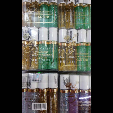 Роликовый жидкий блеск для тела и волос Флер 12шт/уп, фото 2