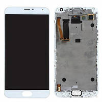 Дисплей (экран) для Meizu M5s (M612)/M5s mini + тачскрин, белый, с передней панелью