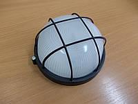 Светильник НПП1302 чёрный/круг с решеткой 60Вт, фото 1