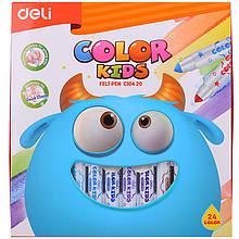 Фломастеры Deli EC10420 12 цветов Color Kids Jumbo смываемые, карт/кор