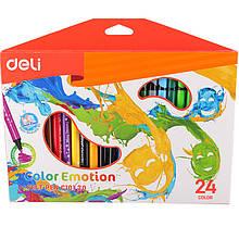 Фломастеры Deli EC10120 24 цветов 2 мм кругл Color Emotion карт/кор