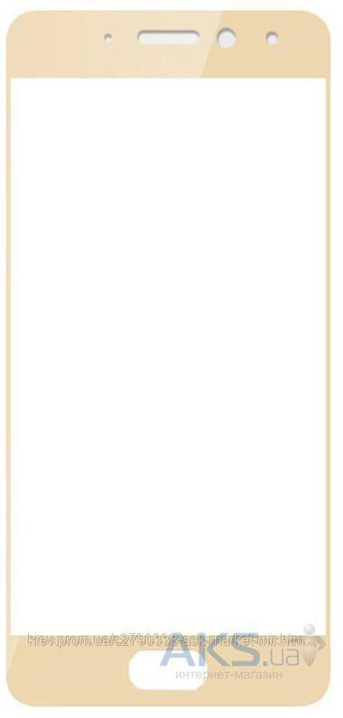 Защитное стекло Meizu Pro 7|Tempered Glass|Золотой|На весь экран