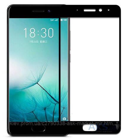 Защитное стекло Meizu Pro 7 Plus|Tempered Glass|Черный|На весь экран, фото 2