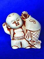 Нэцкэ из гипса Спящий монах