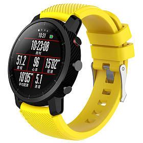 Силіконовий ремінець Primo для годин Xiaomi Huami Amazfit SportWatch 2 / Amazfit Stratos - Yellow