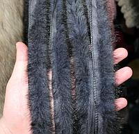 Меховой кант из норки сплошной серый