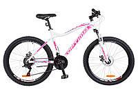"""Велосипед Optimabikes Alpina 26"""" DD 2018 (OPS-OP-26-109) бело-розовый с голубым"""