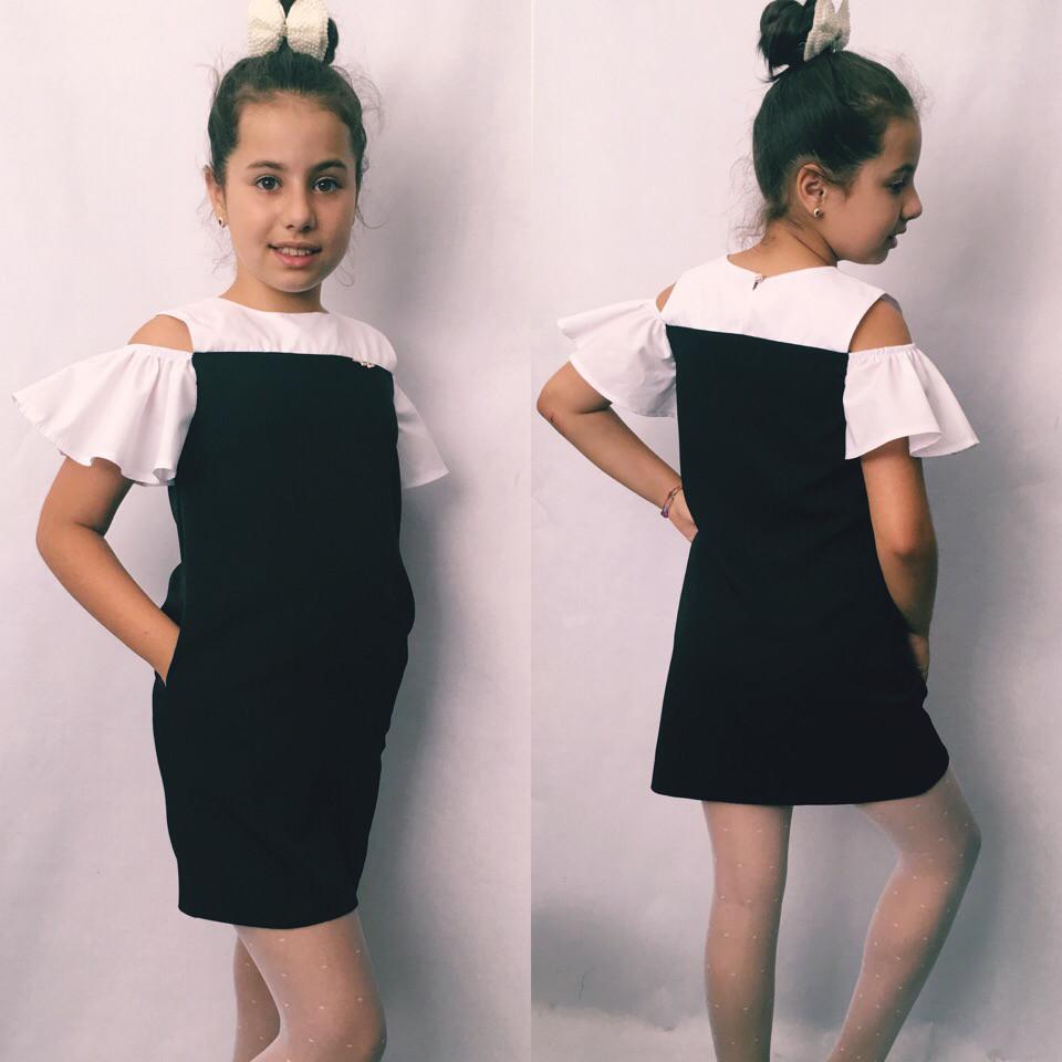 Платье-сарафан школьный для девочки