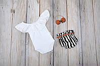 """Комплект одежды для девочек """"Техас"""", Черно-белый"""