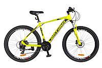 """Велосипед Optimabikes F-1 27.5"""" HDD 2018 (OPS-OP-27.5-022) желтый неон"""