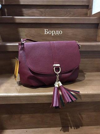 Модные сумки небольшие Бордо, фото 2