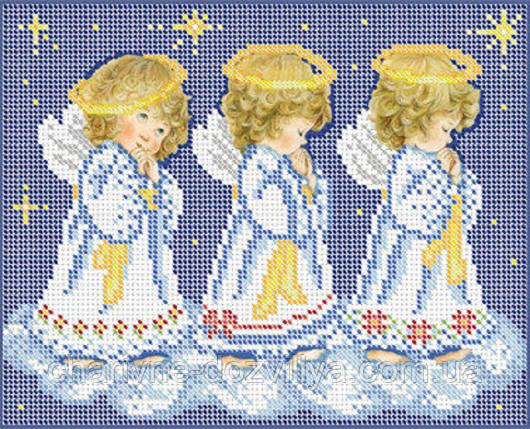 """Схема для вышивки бисером """"Рождественские ангелочки"""", фото 2"""