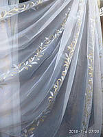 Тюль нейлон с вертикальным рисунком на метраж и опт, фото 1