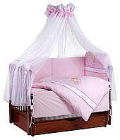 Детская постель Tuttolina Forever Together (7 элементов) 37 розовый (жирафы), фото 1