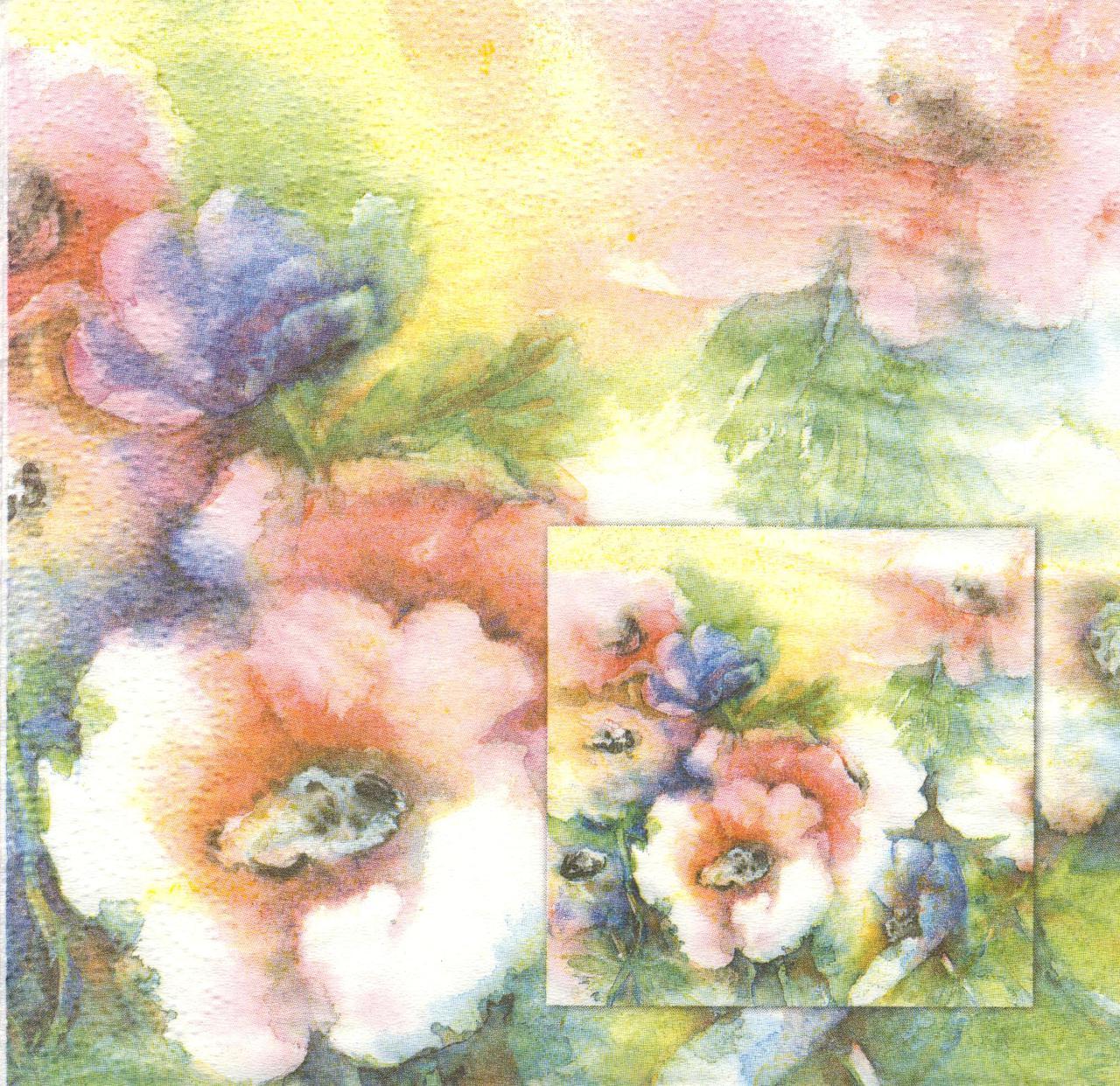 Редкая салфетка для декупажа Цветы 7657