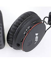 Наушники NIA X2 Bluetooth + Mp3 плеер и Fm Черные, фото 2