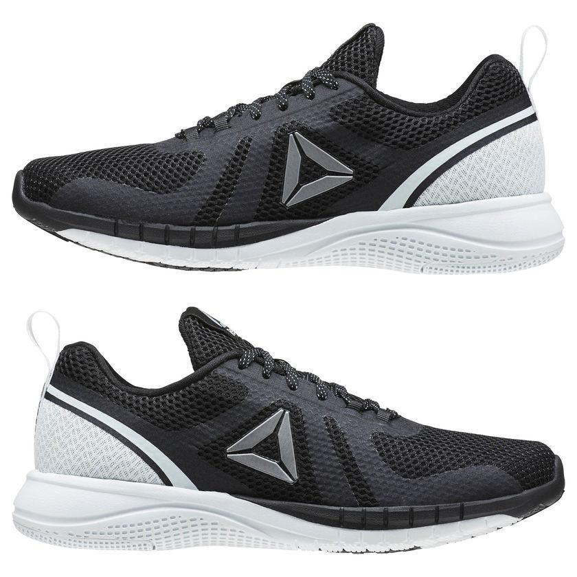 Кроссовки Reebok Print Run 2.0 Black White Черные мужские
