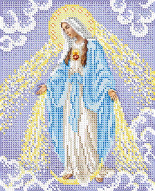 """Схема для вышивки бисером икона """"Непорочное Зачатие Пресвятой Девы Марии"""""""