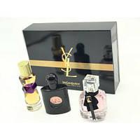 Подарунковий набір YSL (3*30 ml),(ліцензійна парфумерія) НЕ ДУЖЕ АКУРАТНА КОРОБКА!