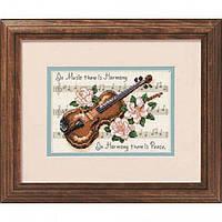 """Набор для вышивания крестом 16656 """"Гармония музыки"""" DIMENSIONS"""