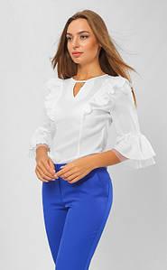 Женская блузка с перемычкой по горловине 42-48 р