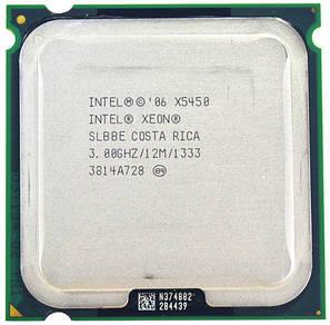 Процессор Intel Xeon X5450 4-ядра 3.0GHz SLBBE E0 для LGA775 + термопаста GD900, фото 2