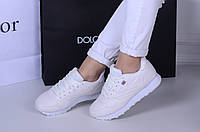 Женские  кроссовки  белые  флаг  (реплика)