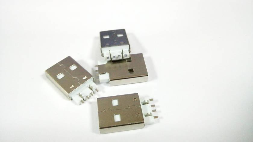 Штекер USB тип A, монтажный папа, фото 2