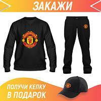 Мужской спортивный костюм (Украина): Свитшот, Штаны, Бейсболка Костюм Manchester United, фото 1