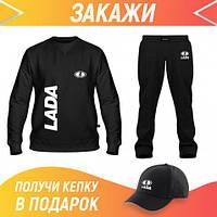 Мужской спортивный костюм летний: Свитшот, Штаны, Бейсболка Костюм LADA (69054,69053,69053)