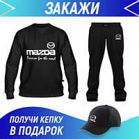 Спортивный костюм мужской хлопок: Свитшот, Штаны, Бейсболка Костюм MAZDA(73118,14857,14857)