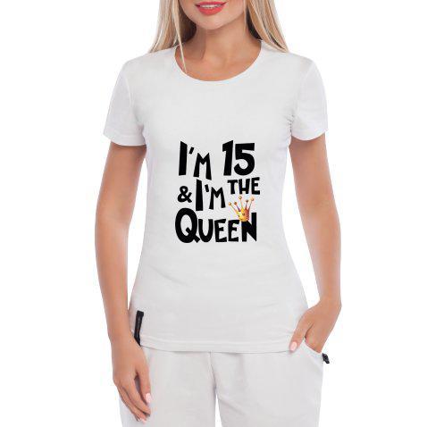 Женская Футболка Летняя с Принтом Queen 15 — в Категории