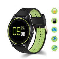 Умные часы D9 для iOS/Android (Smart watch) шагомер, черно-зеленые