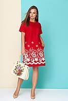 e1bdf2e8cbc Летнее льняное платье с оригинальной прошвой (разные цвета)