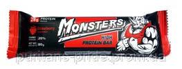 Протеиновые батончики  Monsters High Protein Bar 80 g Клубника