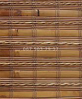 Ролеты бамбуковые B-8BRG деревянный карниз