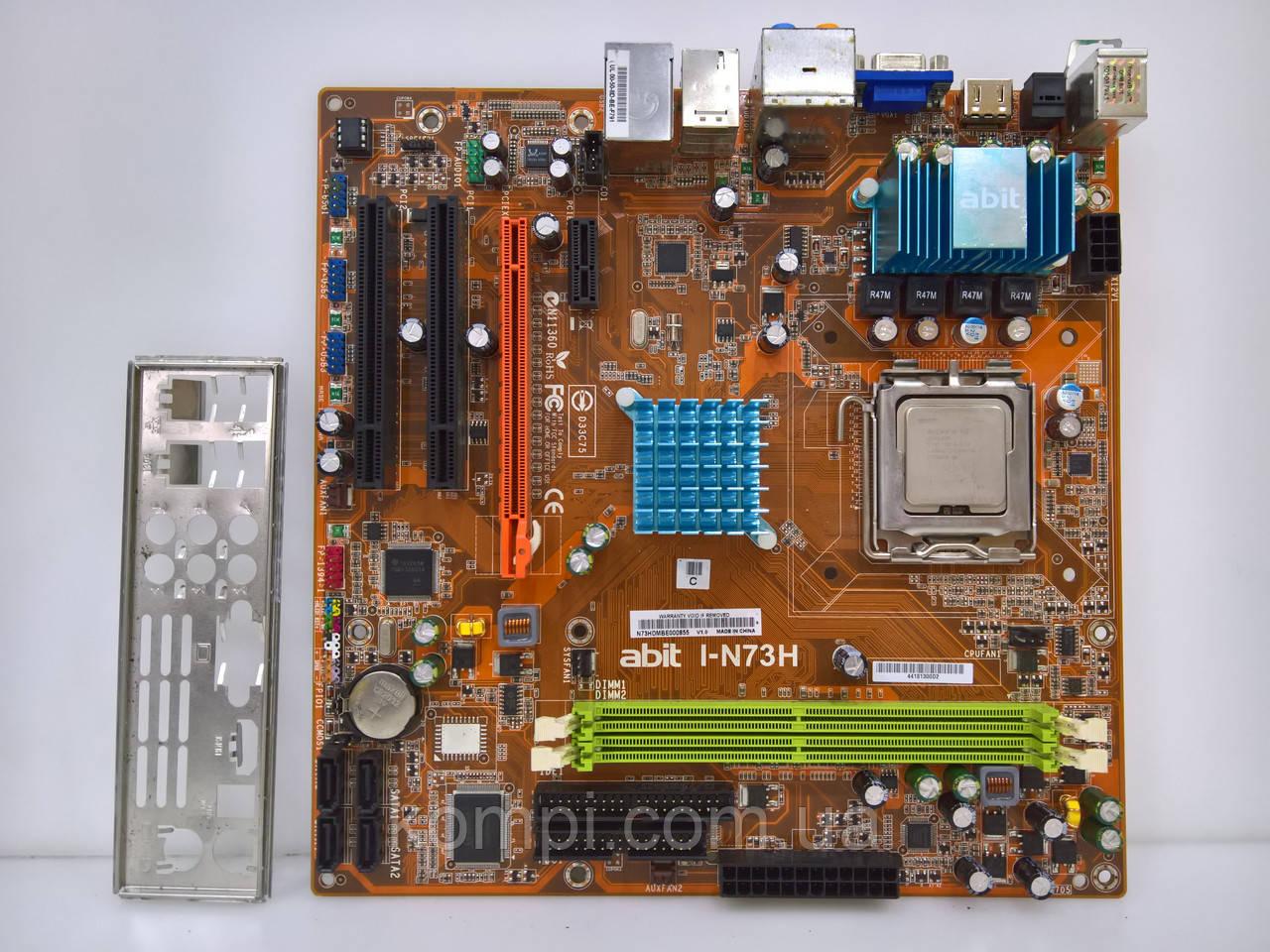 Материнська плата Abit I-N73H+C420 S775/QUAD DDR2