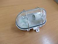 Светильник НПП2604А белый/овал с аллюминеевой решеткой, фото 1