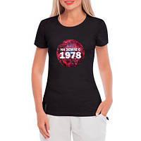 Женская футболка больших размеров На земле с 1978
