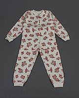 Хлопковая детская пижама с розами на девочку 4 года