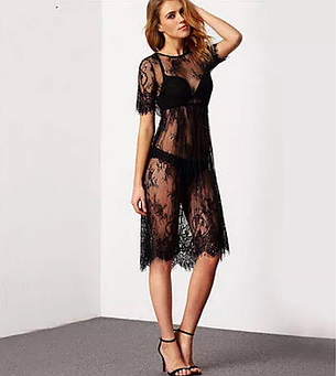 Платье пляжное кружевное , фото 2
