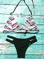 Женский купальник раздельный Цветные полоски размер в наличии M