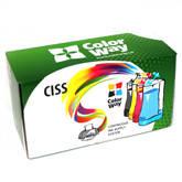 СНПЧ ColorWay для Epson C91/CX4300/T26/27/TX1xx  c чернилами (4х100)