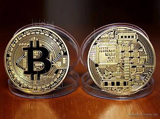 Монеты Bitcon (Биткойн) цвет: золото