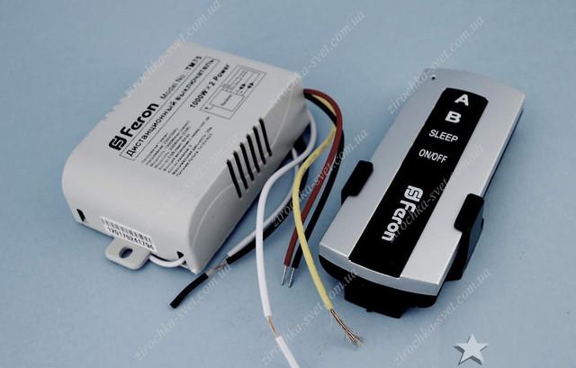 дистанционный выключатель света 220В 2 канала FERON TM75