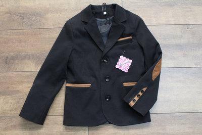 Пиджак для мальчика черный 122-146 Последний размер!