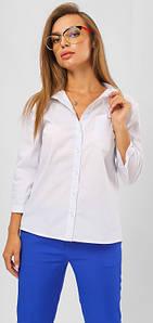 Классическая рубашка с асимметричной спинкой 42-48 р