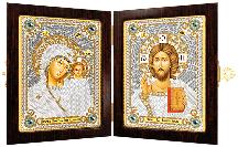 Набор-складень Богородица Казанская и Христос Спаситель СМ 7000