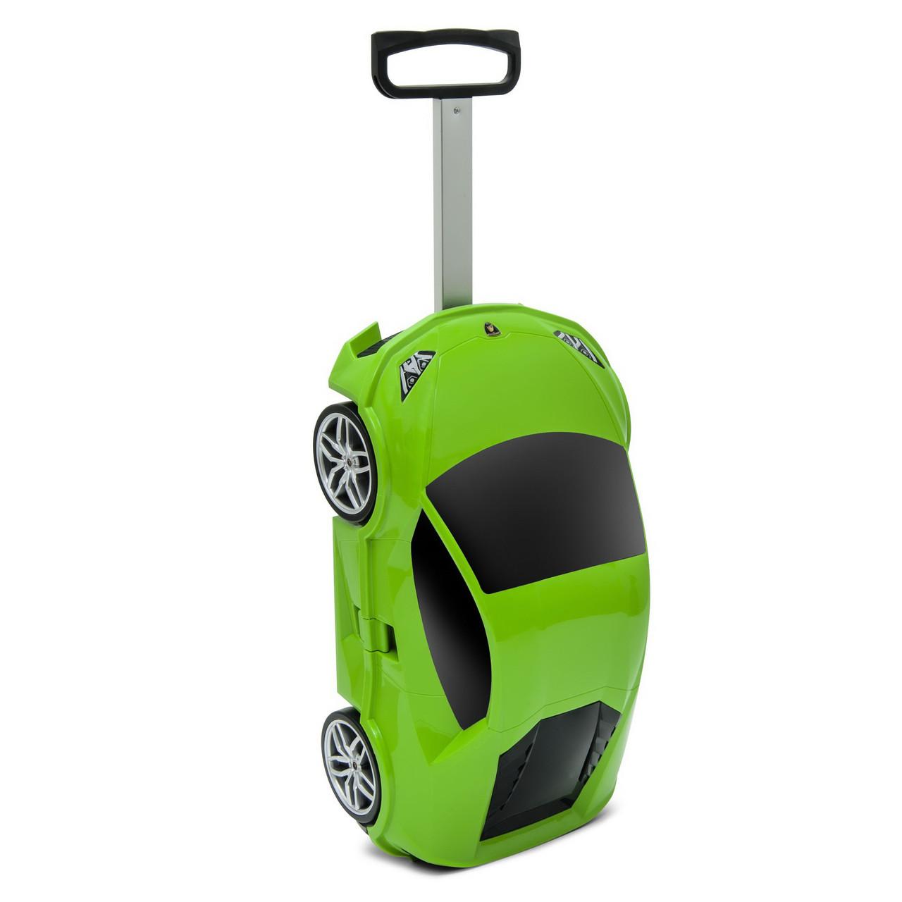 Чемодан на колёсах машинка Lamborghini Huracan зелёный, «Ridaz» (91002W-Green)