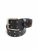 Кожаный ремень Cinturify под джинсы, размер 105-125 см. Цвет черный